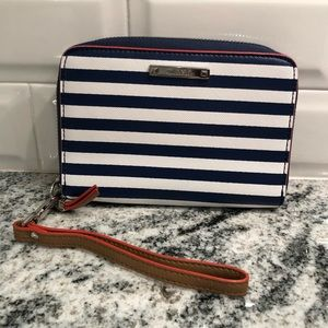 Stella & Dot striped wristlet